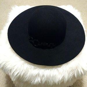 Scala Collezione Black Floppy Brim Hat